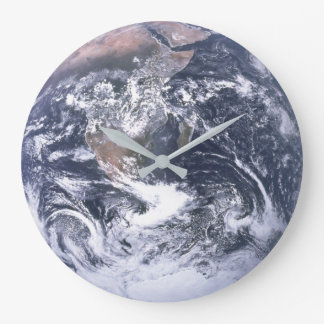 Planet Earth From Space Earth Day Large Clock