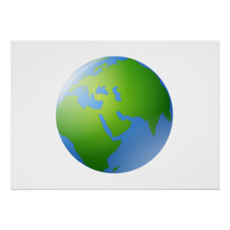Planet Earth Globe Poster