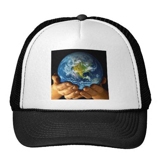 Planet  earth mesh hats