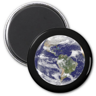 Planet Earth in Outer Space Photographic Globe Magnet