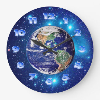 Planet Earth Large Clock