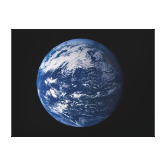 Planet Earth Looking At The Pacific Ocean Canvas Print