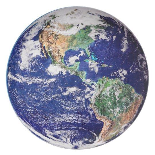 Planet Earth Melamine Plate