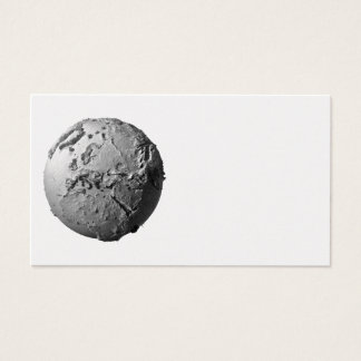 Planet Earth On White Background - Europe, 3d Business Card