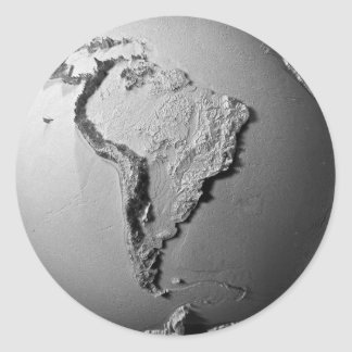 Planet Earth On White Background - South America Classic Round Sticker
