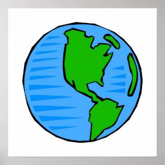 planet earth print
