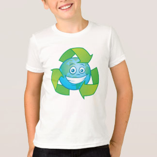 Planet Earth Recycle Cartoon Character T-Shirt