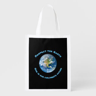 Planet Earth Respect  Childrens Future Grocery Bag