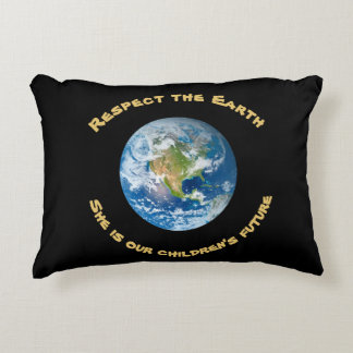 Planet Earth Respect  Future Accent Pillow