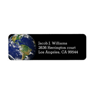 Planet Earth Return Address Label