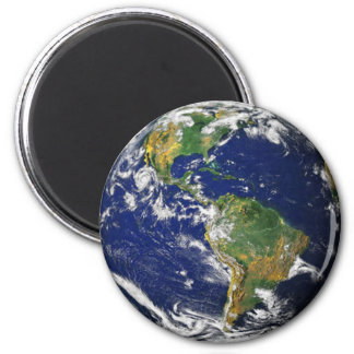 Planet Earth Space Magnent 2 Inch Round Magnet