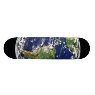 PLANET EARTH SPACE PHOTOGRAPHY BLUES GREENS BLACK SKATE BOARD DECKS