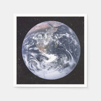 Planet Earth Starry Sky Paper Napkin