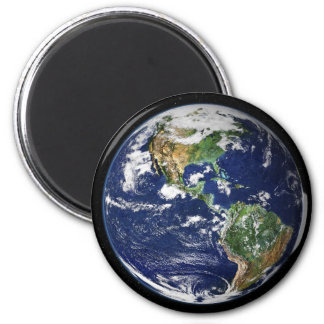 Planet Earth with the Moon in the Background Magnet