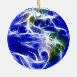 Planet Earth World Globe Ceramic Ornament