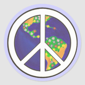 Planet Earth, World Peace Sign stickers