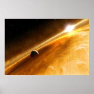 Planet Fomalhaut B Orbiting a Star Poster