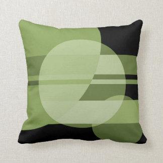 Planet Geometry - Green Throw Pillow
