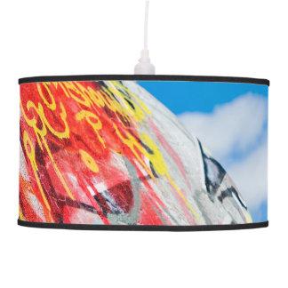 planet graffiti pendant lamp