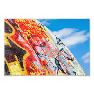 planet graffiti photo print