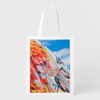 planet graffiti reusable grocery bag