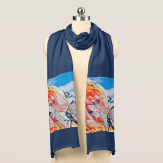 planet graffiti scarf
