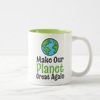 Planet Great Again 11 oz Two-Tone Mug