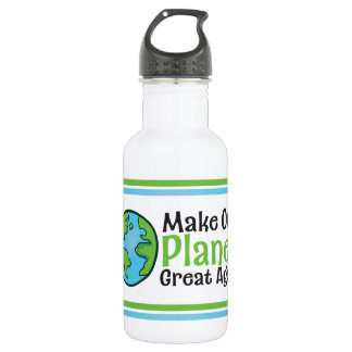 Planet Great Water Bottle (18 oz), White