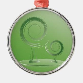 planet green metal ornament
