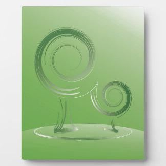 planet green plaque