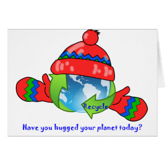Planet Hug Recycle Note Card
