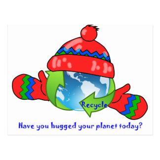 Planet Hug Recycle Postcard