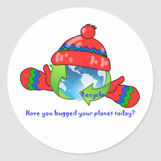 Planet Hug Recycle Stickers
