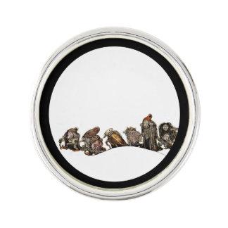 Planet Jill Round Lapel Pin