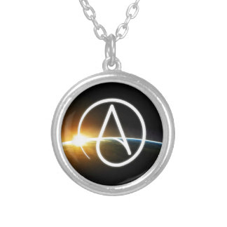 Planet.jpg Round Pendant Necklace