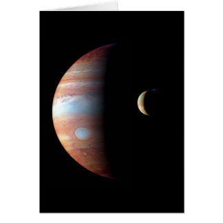 PLANET JUPITER AND ITS VOLCANIC MOON IO (space) ~ Card