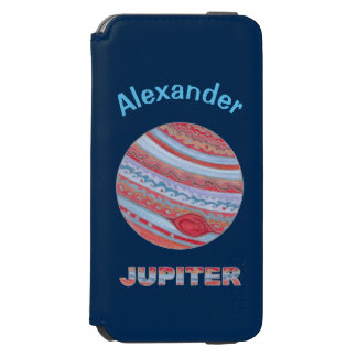 Planet Jupiter Colorful Space Geek Incipio Watson™ iPhone 6 Wallet Case
