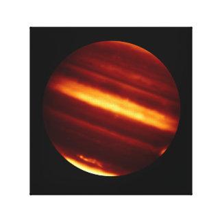 Planet Jupiter in Infrared Light Canvas Print