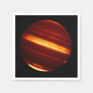 Planet Jupiter in Infrared Light Disposable Napkins