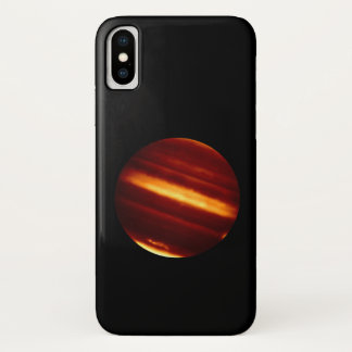 Planet Jupiter in Infrared Light iPhone X Case