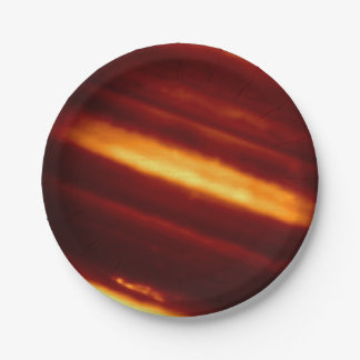 Planet Jupiter in Infrared Light Paper Plate