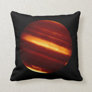 Planet Jupiter in Infrared Light Throw Pillow