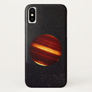 Planet Jupiter in Infrared Light with Starry Sky iPhone X Case