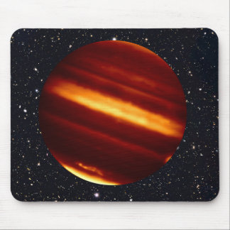 Planet Jupiter in Infrared Light with Starry Sky Mouse Pad