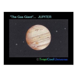 Planet JUPITER postcard