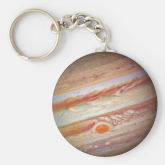 PLANET JUPITER - red spot head on (solar system) ~ Keychain