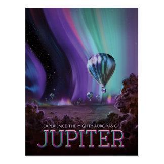 Planet Jupiter Sci-Fi Space Travel Illustration Postcard
