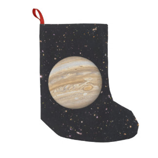 Planet Jupiter Starry Sky Small Christmas Stocking