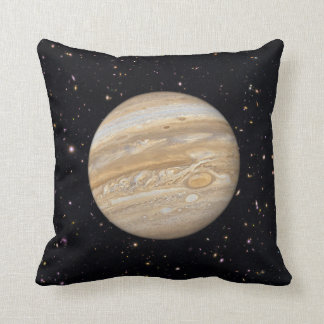 Planet Jupiter Starry Sky Throw Pillow
