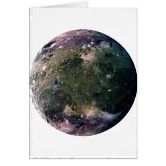 PLANET JUPITER'S MOON GANYMEDE (solar system) ~~ Card
